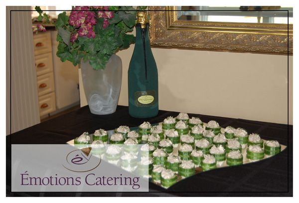 Home Parties - Salmon Mousse on Cucumber Coins