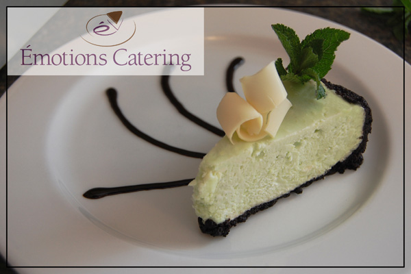 White Chocolate Mint Cheesecake